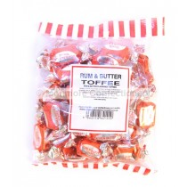 RUM & BUTTER TOFFEES (MONMORE) 225g