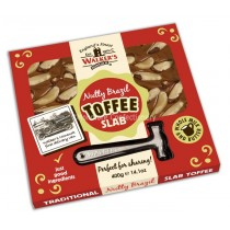 Walkers Nonsuch Original Nutty Brazil Toffee 400g Slab