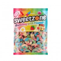 Multicolour Sour Rings (Sweetzone) 1kg Bag