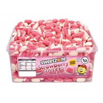 Sweetzone Strawberry Puffs Tub 600 Count