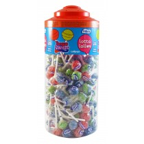 Vidal Tongue Painter Lotta Lollies Full Tub Of 150 - Fruit Flavoured Lollipops