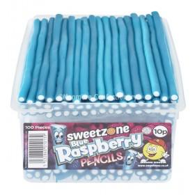 Blue Raspberry Pencils (Sweetzone) 100 Count