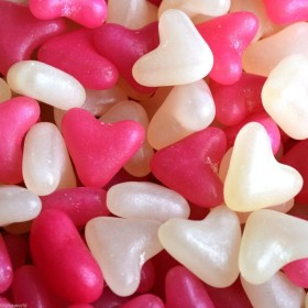Pink and White Hearts Mix 1kg