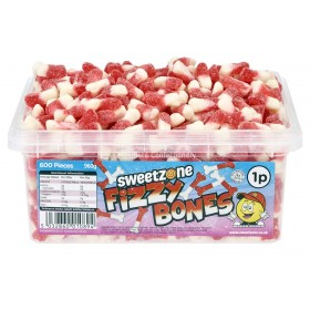 Fizzy Bones Tub (Sweetzone) 600 Count
