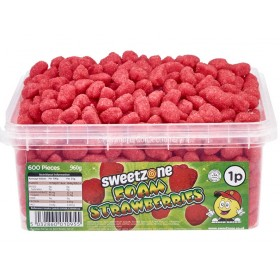 Foam Strawberries Tub (Sweetzone) 600 Count