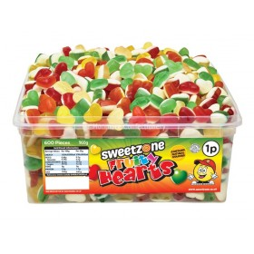 Fruity Hearts Tub (Sweetzone) 600 Count