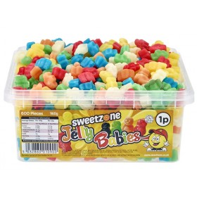 Mini Jelly Babies Tub (Sweetzone) 600 Count