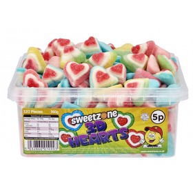 3D Hearts Tub (Sweetzone) 120 Count