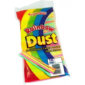 Mini Rainbow  Dust Straws (Swizzels Matlow) 240 Count