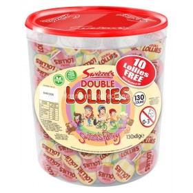 DOUBLE LOLLIES (SWIZZELS MATLOW) 120 COUNT