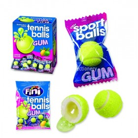TENNIS BALLS BUBBLEGUMS (FINI) 200 COUNT