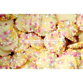 Small White Chocolate Flavour JAZZLES (HANNAH`S) 3KG