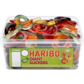 GIANT SUCKERS TUB (HARIBO) 60 COUNT