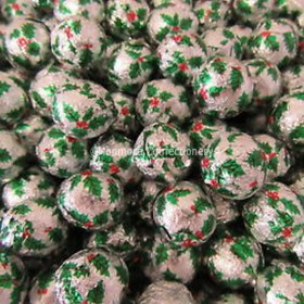 Milk Chocolate Silver Holly Balls (Kinnerton) 3kg