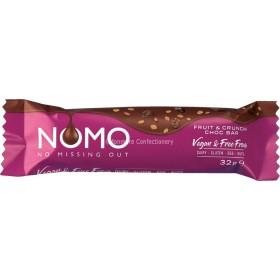 Nomo Fruit & Crunch Vegan Chocolate Bar 24 x 32g