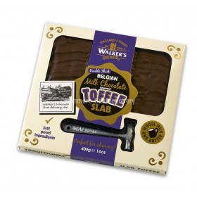 MILK CHOCOLATE COVERED TOFFEE SLAB (WALKERS NONSUCH) 400G