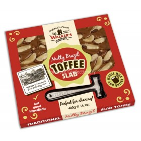 NUTTY BRAZIL TOFFEE SLAB (WALKERS NONSUCH) 400G