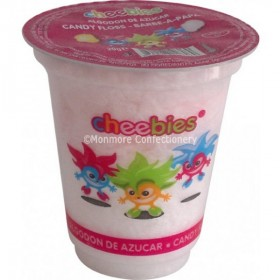 CHEEBIES CANDY FLOSS 20G TUB (ROSE) 12 COUNT
