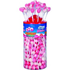 Strawberry and Cream Lollies (Vidal) 150 Count