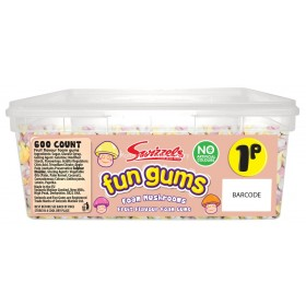 Foam Mushrooms Fun Gums (SWIZZELS MATLOW) 600 COUNT