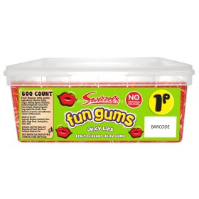 JUICY LIPS FUN GUMS (SWIZZELS MATLOW) 600 COUNT