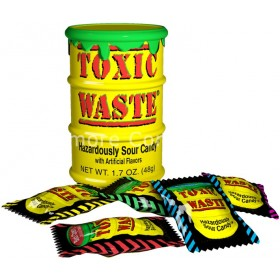 TOXIC WASTE YELLOW DRUM 42G (TOXIC) 12 COUNT
