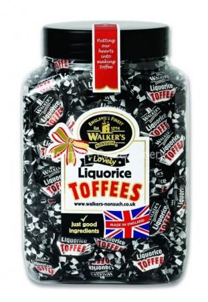 liquorice toffee 1.25kg jar