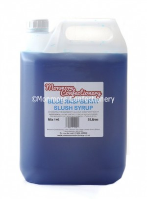 BLUE RASPBERRY SLUSH SYRUP (MONMORE) 5 LITRES