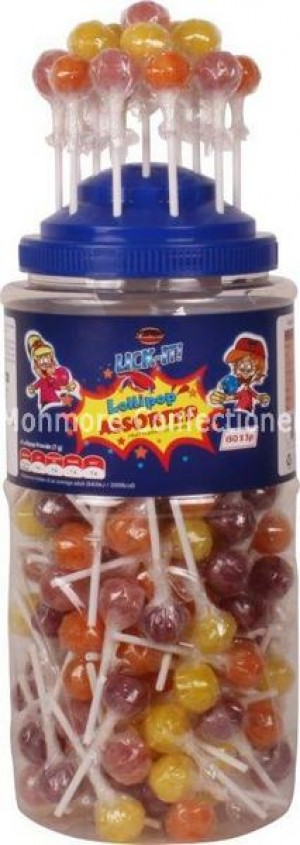 Lick-It Assorted Fruit Lollipops (Tees) 150 Count