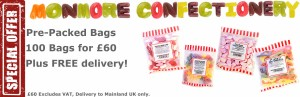 special pre pack bundle of 100 of your selected sweets with free shipping to uk at £60 excluding vat