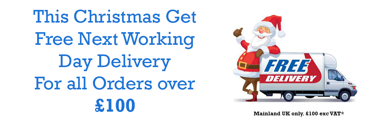 Free Delivery Christmas Banner