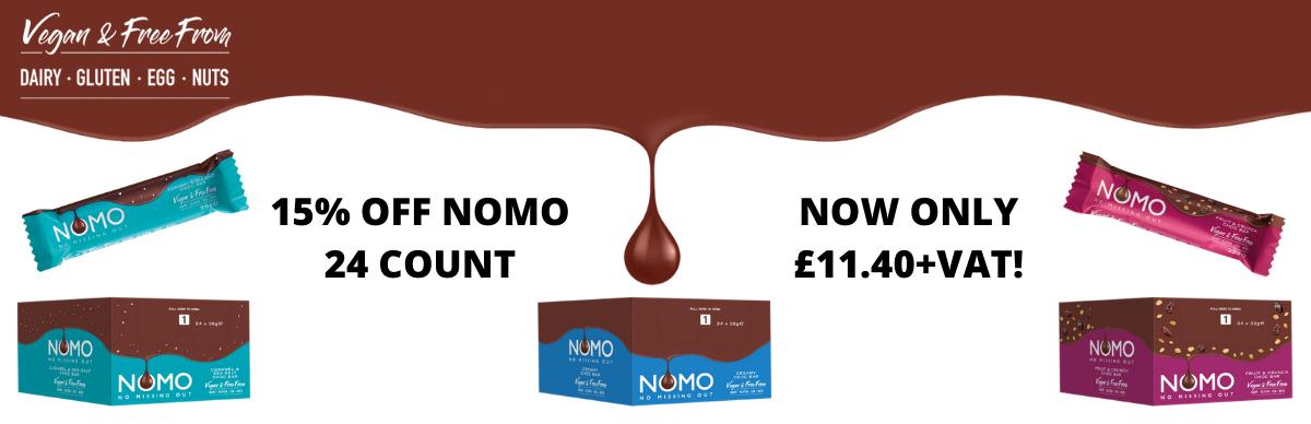 Nomo Vegan Chocolate 15% Off