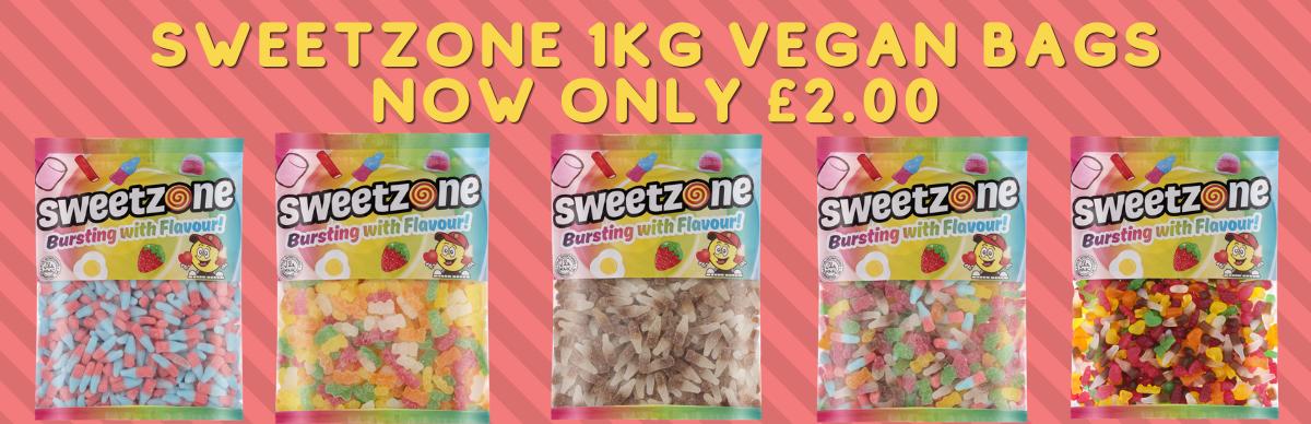 Sweetzone 1kg Vegan Banner
