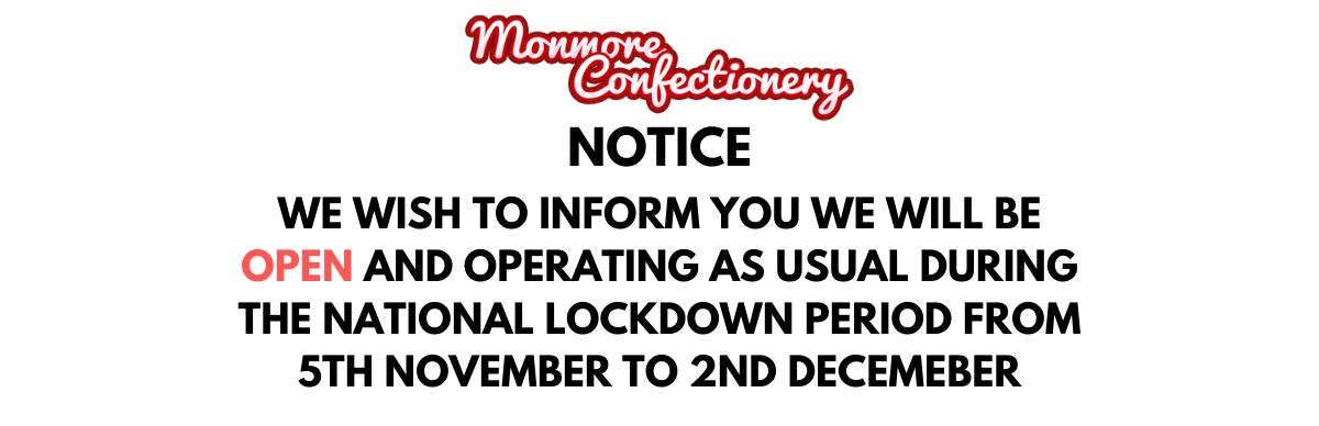Lockdown Notice Banner